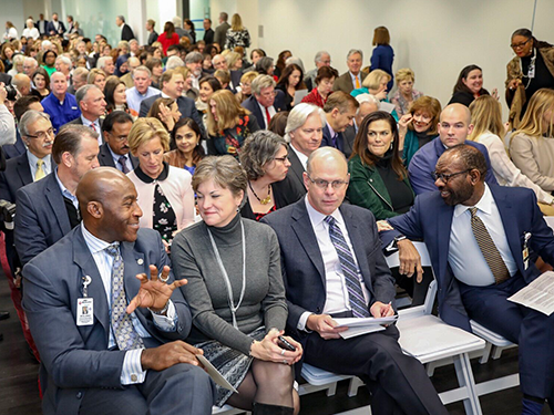 Nearly 200 gathered to dedicate the James D. Eason Transplant Institute at Methodist University Hospital.
