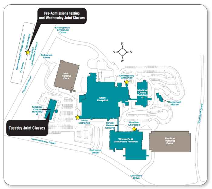 Methodist Germantown Outpatient Rehab Map