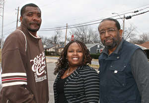 Reverend James E. Kendrick, Joy Crawford, and Mike Edwards