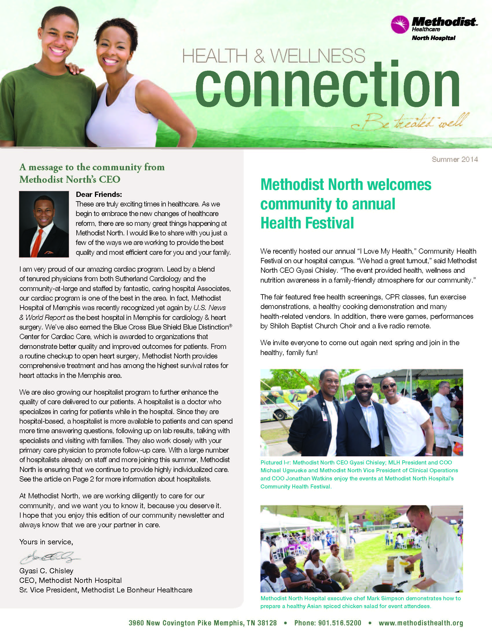 Methodist North Summer 2014 Newsletter