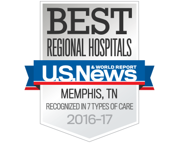 Best regional hospital 2016-2017 by U.S. News & World Report.